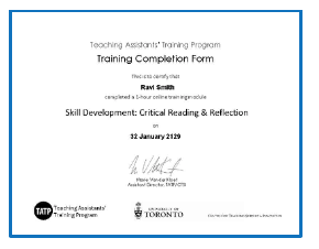 alt= image of module completion certificate